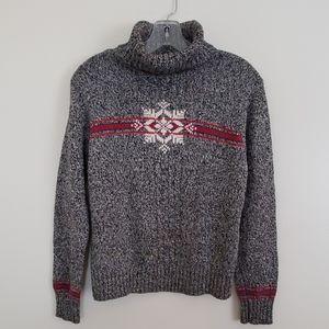 Liz Claiborne Turtleneck Snowflake Sweater - SP